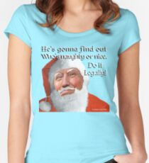 Naughty or Nice Women's Fitted Scoop T-Shirt