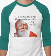 Naughty or Nice Men's Baseball ¾ T-Shirt