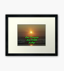 For Our Good Friend Sally Omar Here On Redbubble Framed Print