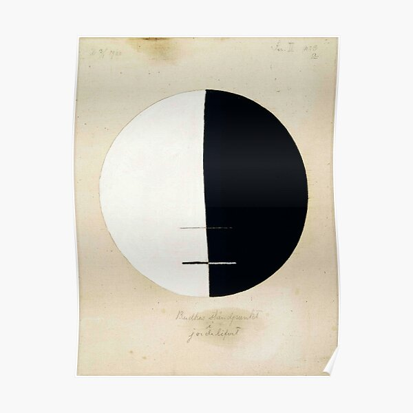 Hilma af Klint, Buddha's Standpoint in the Earthly Life, 1920 Poster