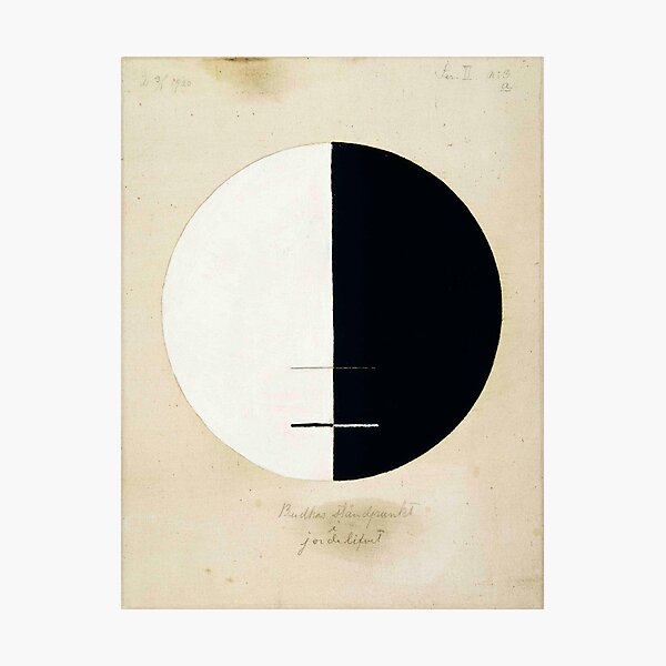 Hilma af Klint, Buddha's Standpoint in the Earthly Life, 1920 Photographic Print