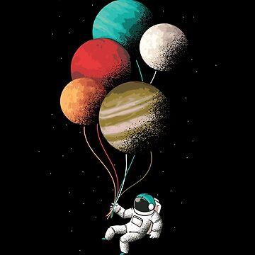 Astronaut Balloons by soondoock