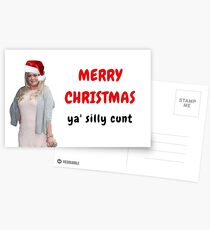 Gemma Collins Christmas Card, Rude Cunt Card, Gifts, Presents, Meme greeting cards, Pop culture Postcards