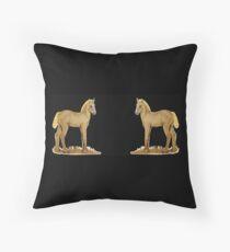 Ponys on black  Throw Pillow