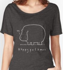 Happypotamus - Pale print for dark t-shirts Women's Relaxed Fit T-Shirt