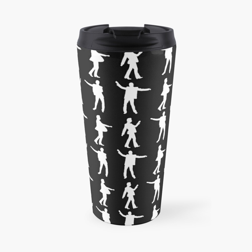 DANCING DAVE white print Travel Mug