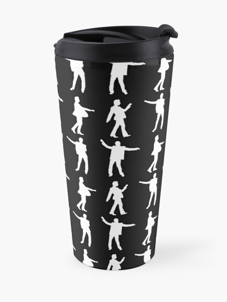Alternate view of DANCING DAVE white print Travel Mug
