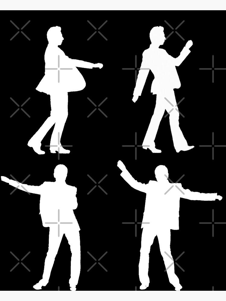 DANCING DAVE white print by ViolaTorn