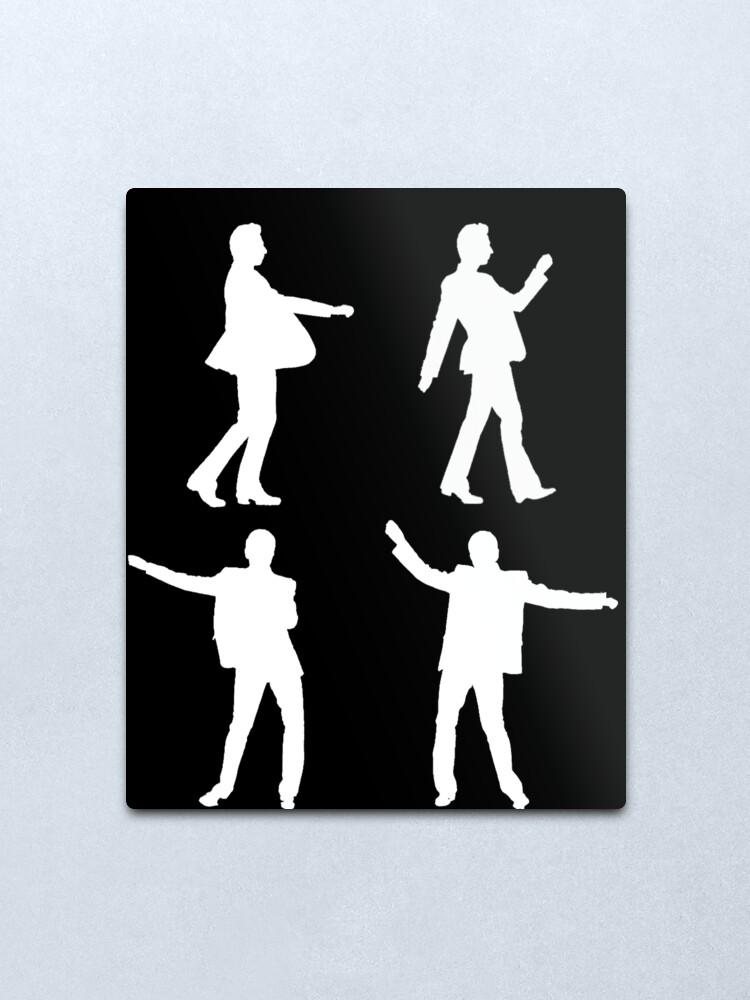 Alternate view of DANCING DAVE white print Metal Print