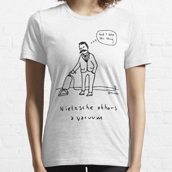 Nietzsche abhors a vacuum - black print Essential T-Shirt