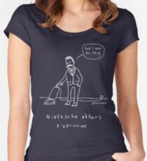 Nietzsche abhors a vacuum - Pale print for dark t-shirts Women's Fitted Scoop T-Shirt