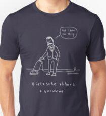 Nietzsche verabscheut ein Vakuum - blasser Druck für dunkle T-Shirts Slim Fit T-Shirt