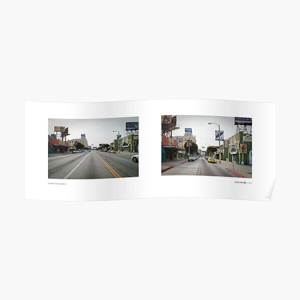 La Brea Avenue + 6th Street, Mid-Wilshire (I), Los Angeles, California, USA...narrowed. Poster