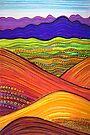 Perfect Pastels - Flinders Ranges looking back (2) by Georgie Sharp