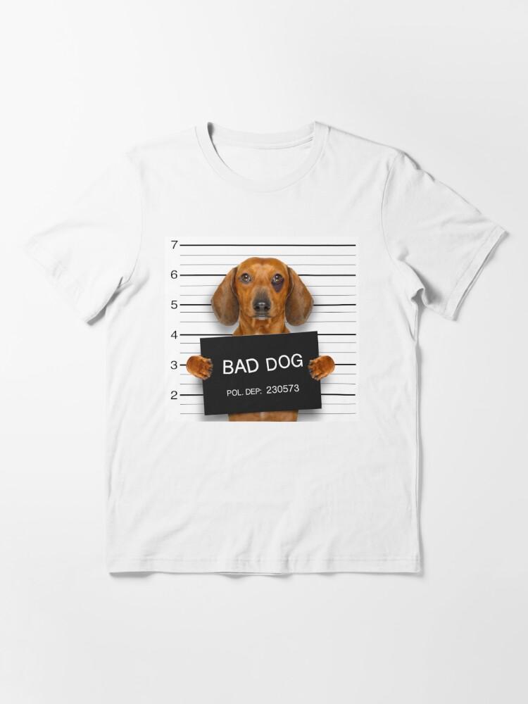 Alternate view of Funny Dachshund Mugshot  Essential T-Shirt