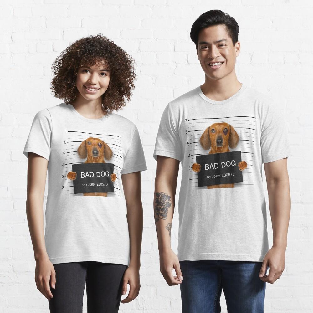 Funny Dachshund Mugshot  Essential T-Shirt