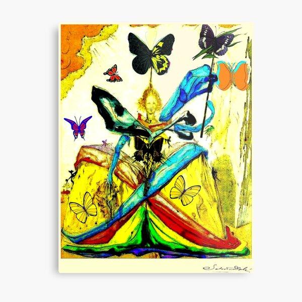 DALI : Vintage 1951 Queen of Butterflies Abstract Print Metal Print