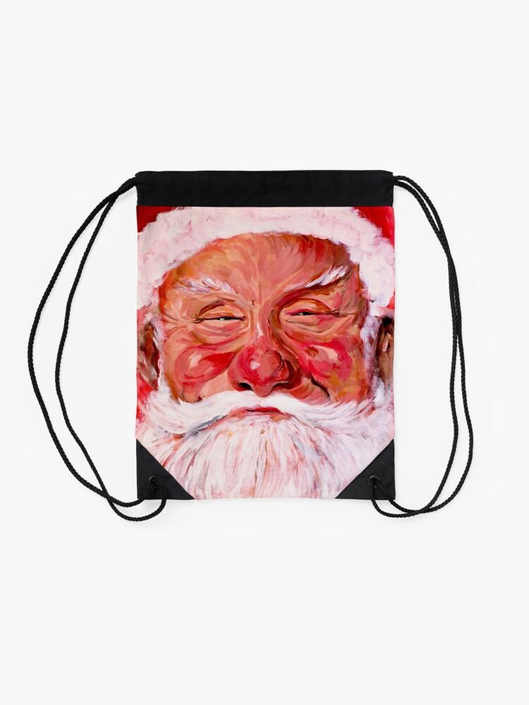 Alternate view of Santa Claus Drawstring Bag