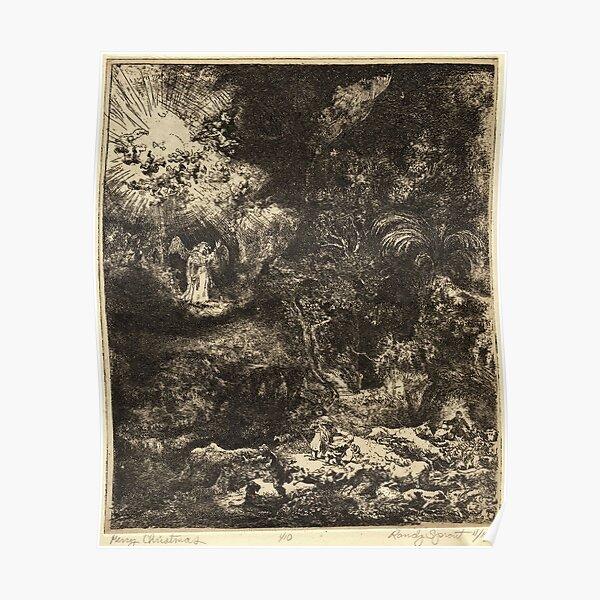 Merry Christmas After Rembrandt van Rijn Poster