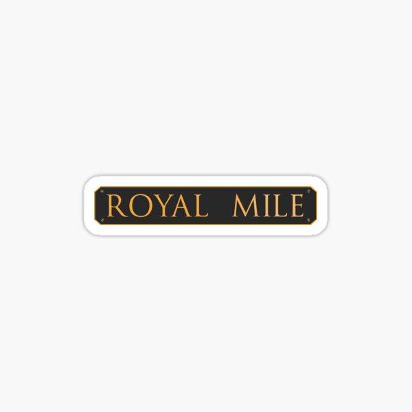 Edinburgh's Royal Mile Roadsign Sticker