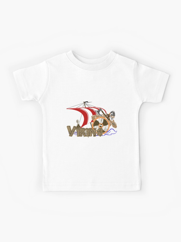 Vikings with ship | Kids T-Shirt