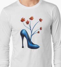 High Heel Shoe And Flower Bouquet Long Sleeve T-Shirt