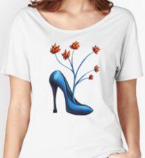 High Heel Shoe And Flower Bouquet Women's Relaxed Fit T-Shirt