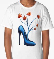 High Heel Shoe And Flower Bouquet Long T-Shirt