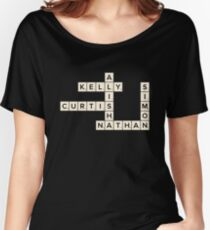 Misfits Characters Scrabble Women's Relaxed Fit T-Shirt