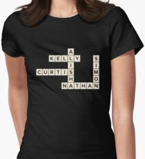Misfits Characters Scrabble Women's Fitted T-Shirt