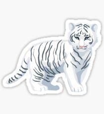 White Tiger Baby Sticker