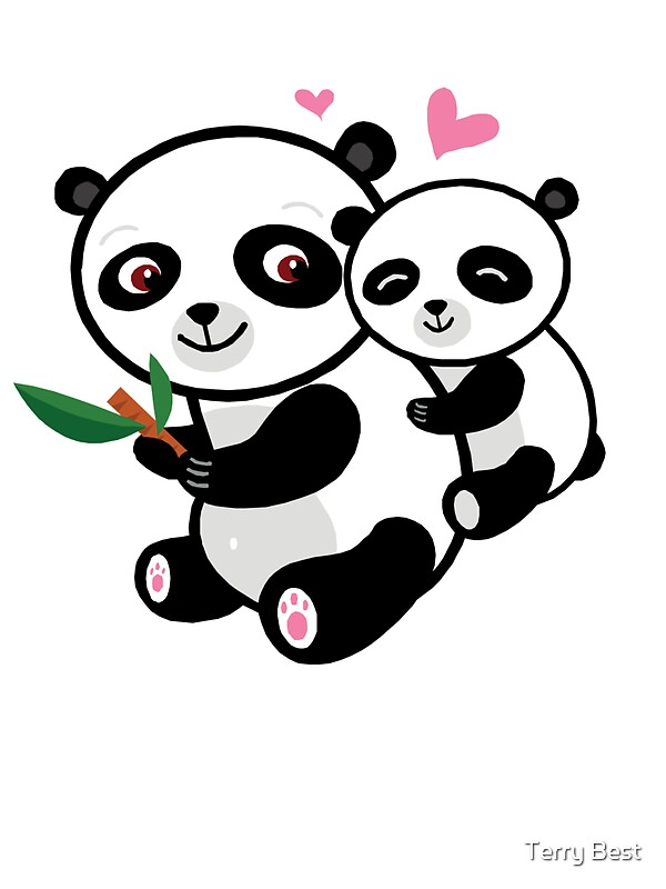 """""""Panda Love"""" Stickers by Terry Best 