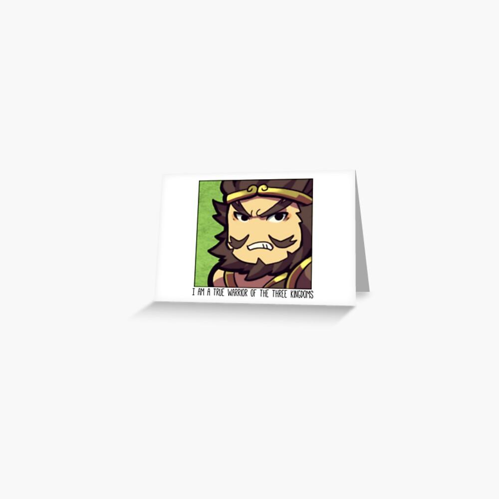 Dynasty Warriors Zhang Fei of Shu chibi Greeting Card