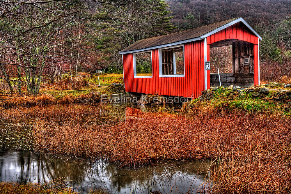New England's Covered Bridge by Evelina Kremsdorf