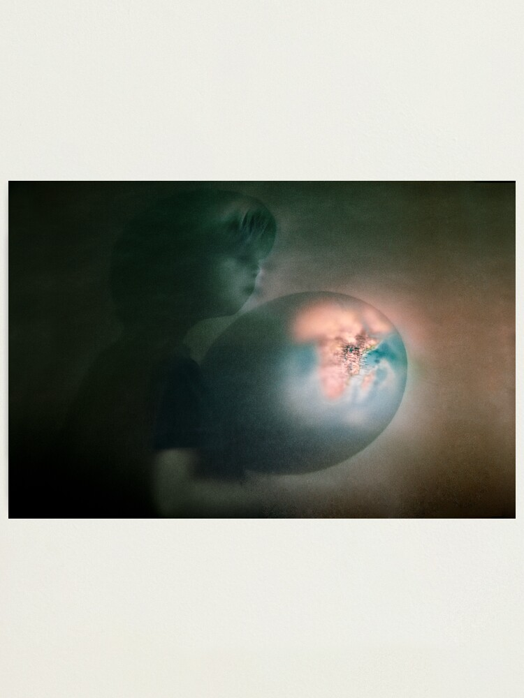 Alternate view of What about the world Photographic Print