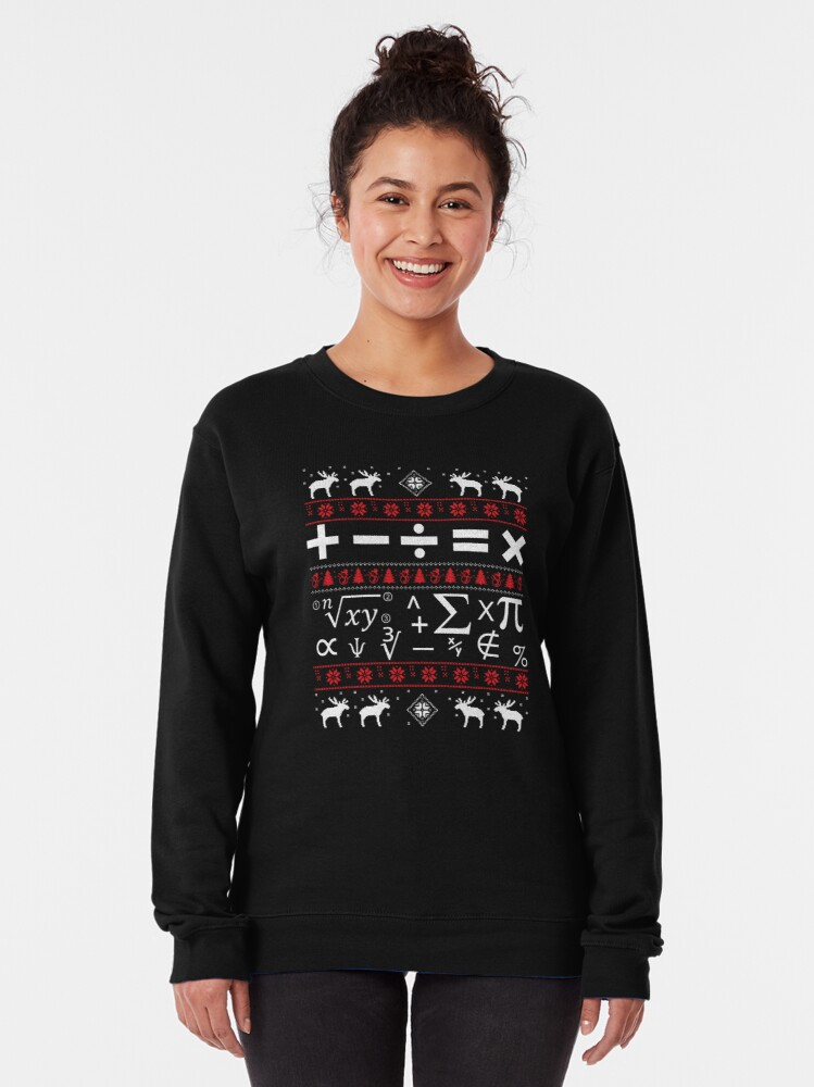 Alternate view of Math Ugly Christmas Sweater Pullover Sweatshirt