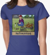 Metal Detecting Rules Women's Fitted T-Shirt