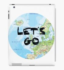 Let's Go! Rounded Europe Map iPad Case/Skin