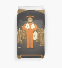 greed look Duvet Cover