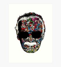 OFFICIAL Stan Lee - Man of Many Faces Art Print