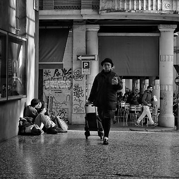 Lovers in the streets of Bologna Black and White photography by signorino