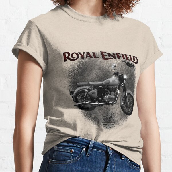 The Royal Enfield Classic 500 Motorcycle by MotorManiac  Classic T-Shirt