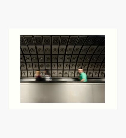 Waterloo Tube Station Art Print