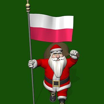 Santa Claus With Flag Of Poland by Mythos57