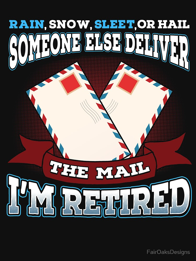 Retired Mail Carrier Gift by FairOaksDesigns