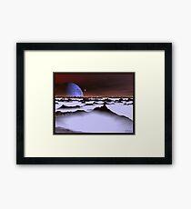 Ice Plain 3 Framed Print