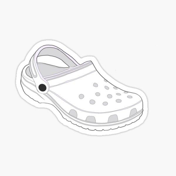 Croc (White) Sticker