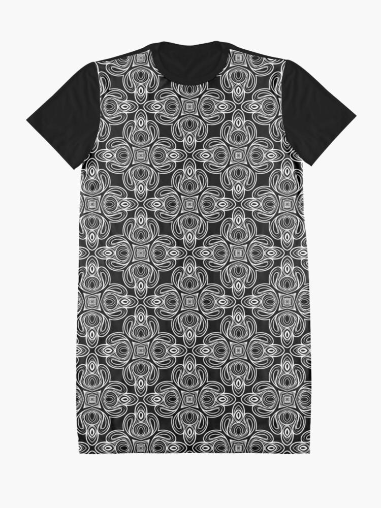 Vista alternativa de Vestido camiseta Intrincado patrón de remolino