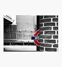 West Ham Tube Station Photographic Print