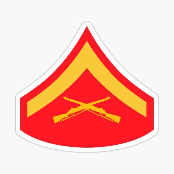 USMC INSIGNIA - LANCE CORPORAL Sticker